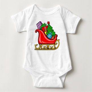 Santa's Sleigh Baby Bodysuit