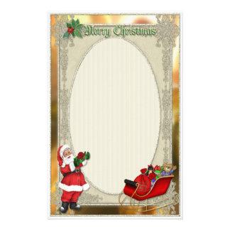 Santa's Sleigh Custom Stationery