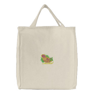 Santa's Sleigh Canvas Bag