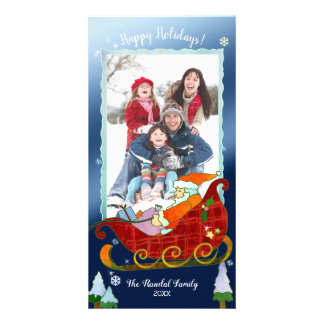 Santa's Sleigh Festive Holiday Photo Card