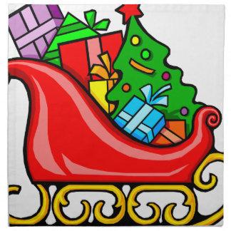 Santa's Sleigh Napkin