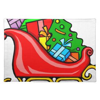 Santa's Sleigh Placemat