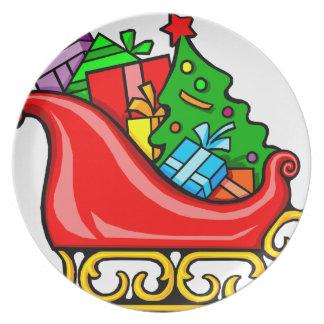 Santa's Sleigh Plate