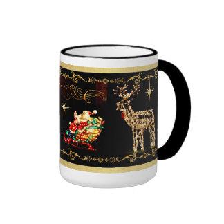 Santa's Sleigh Ride Christmas Mug