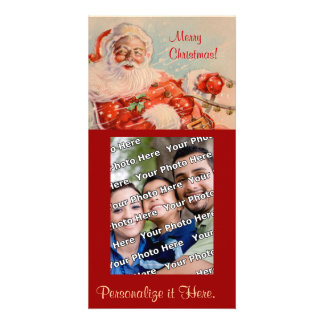 Santas Sleigh Ride Photocard Photo Greeting Card