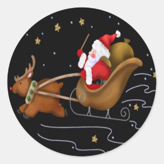 Santa's Sleigh - Sticker Sheet