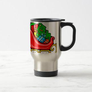 Santa's Sleigh Travel Mug