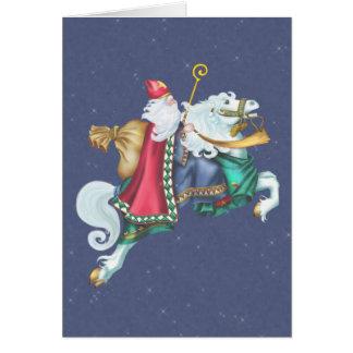 Santa's Steed Christmas Card