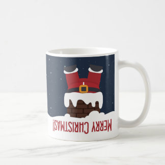 Santa's Stuck in the Chimney Coffee Mug