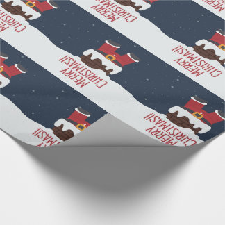 Santa's Stuck in the Chimney, Merry Christmas Wrapping Paper