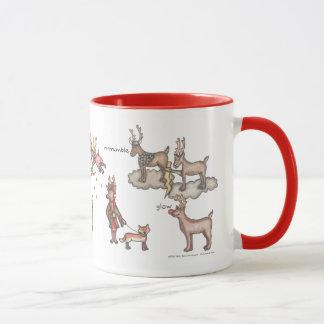 Santa's Team 11 oz. Ringer Mug