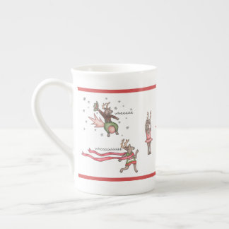 Santa's Team Bone China Mug