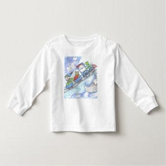Santa's Teddy Bear, Christmas Train, kids clothing Toddler T-Shirt