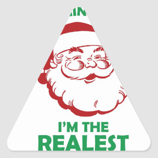 Santas The Realest Triangle Sticker