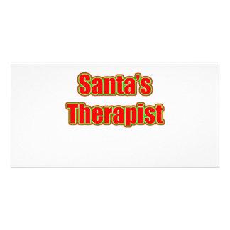 Santa's Therapist Picture Card