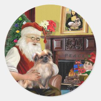 Santa's Tibetan Spaniel (#3) Classic Round Sticker