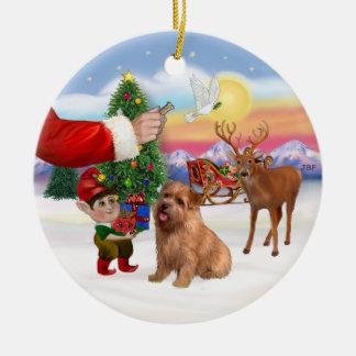 Santas Treat for his Norfolk Terrier Ceramic Ornament