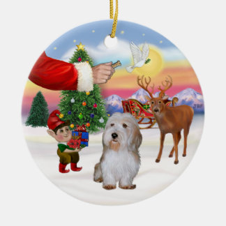 Santa's Treat - Petit Basset Ceramic Ornament