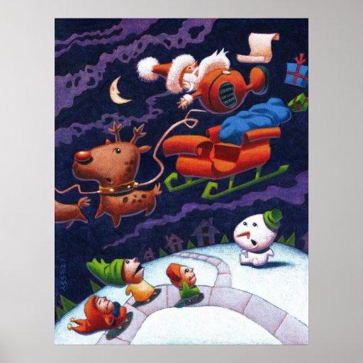 Santa's Trippin' Poster
