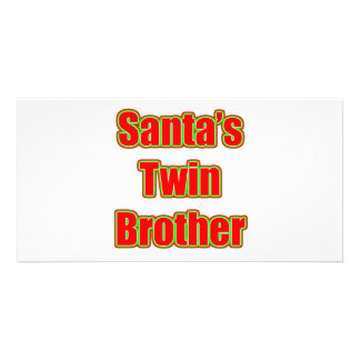 Santa's Twin Brother Personalised Photo Card