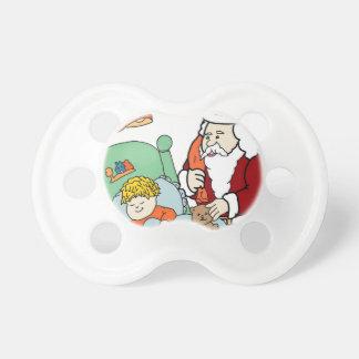 Santa's Visit II Baby Pacifier