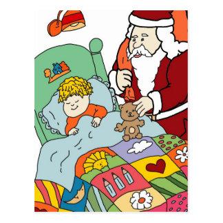 Santa's Visit II Postcard