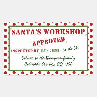 Santa's Workshop Approved & Inspected Gift Tag