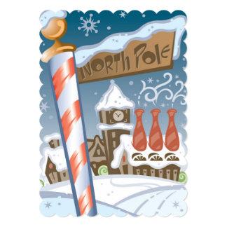 Santa's workshop at the North Pole 13 Cm X 18 Cm Invitation Card
