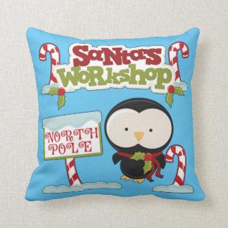 Santa's Workshop Penguin Cushion