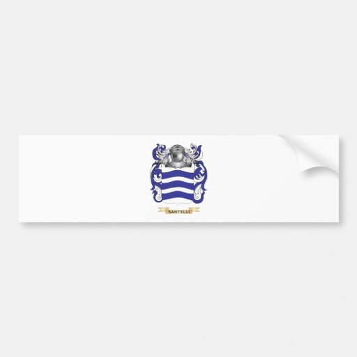 Santelli Coat of Arms (Family Crest) Bumper Sticker