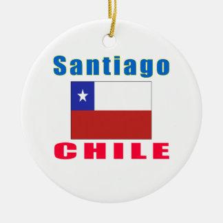 Santiago Chile capital designs Round Ceramic Decoration