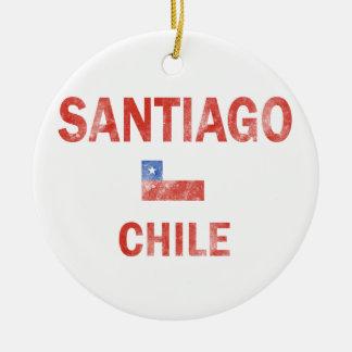 Santiago Chile designs Ceramic Ornament