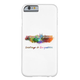 Santiago de Compostela skyline in watercolor Barely There iPhone 6 Case