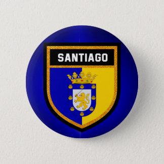 Santiago Flag 6 Cm Round Badge