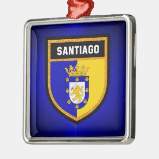 Santiago Flag Silver-Colored Square Decoration