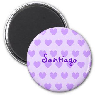 Santiago in Purple 6 Cm Round Magnet