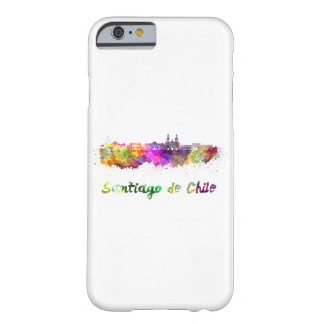 Santiago of Chile V2 skyline in watercolor Barely There iPhone 6 Case