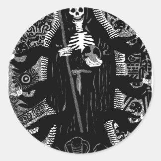 Santisima Muerte Classic Round Sticker