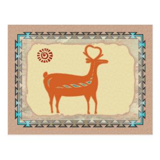Santo Domingo Deer Postcard
