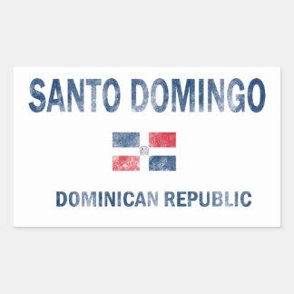 Santo Domingo Dominican Republic Designs Rectangular Sticker