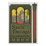 Santo Domingo Vintage Travel Ad Art Print Poster