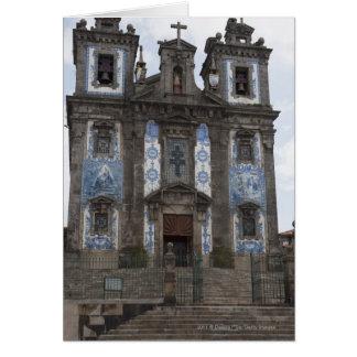Santo Ildenfonso Church With Tile Panels Card