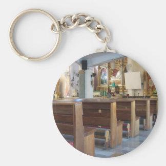 Santo Niño Church Basic Round Button Key Ring