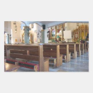 Santo Niño Church Rectangular Sticker