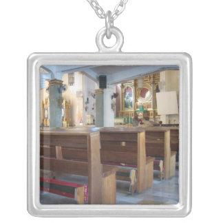 Santo Niño Church Silver Plated Necklace