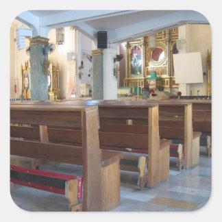 Santo Niño Church Square Sticker