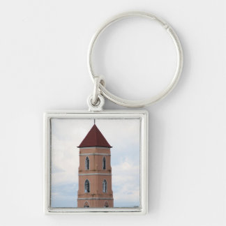 Santo Niño Church, Tacloban City Silver-Colored Square Key Ring