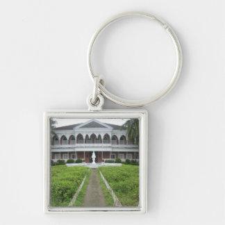 Santo Niño shrine Silver-Colored Square Key Ring
