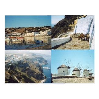 santoriini postcard