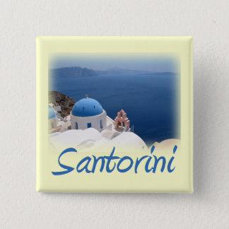 Santorini 15 Cm Square Badge